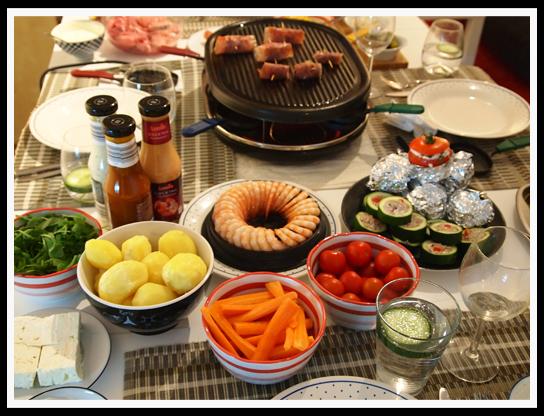 Raclette zutatenliste - Raclette beilagen ideen ...